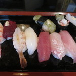 寿し竹 - 料理写真:地魚にぎり(10貫) 2700円(2015.12)