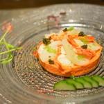 レストラン シンフォニー - 冷前菜 カナダ産オマール海老と帆立貝のアンサンブル    赤パプリカのムース