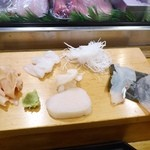 横綱寿司 - 色々刺身盛り
