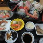 和食・寿し処 荒波 - お造り定食 1800円(2015.12)