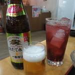 和食・寿し処 荒波 - 瓶ビールとチューハイ カシス