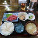 郷 - マグロすきみ定食