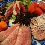 鴨猟理 まりも本店 - 【前菜】スモークやローストなど3〜4品の盛り合わせ