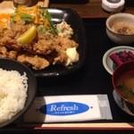 つかさ亭 - 鶏の唐揚げ定食 ¥680