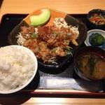 つかさ亭 - 鶏の唐揚げゆずポン酢サラダ風定食 ¥850
