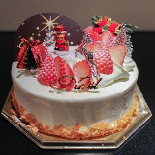 ウニコルノ - 料理写真:クリスマスケーキ 生デコレーション☆