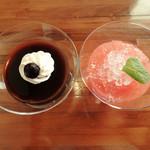 cafe restaurant マートル - コーヒーゼリーとグレープフルーツゼリー