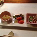 山葵 - 前菜                              ポテト、明太子、酒粕の梅ジャムサンド