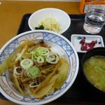 45849273 - 牛カルビ丼の朝定食400円