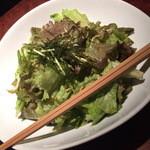 銀座酒場 マルハチ - シンプルごま油のサラダ(680円+税)2015年12月