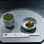 銀座 天一 - お茶と香の物