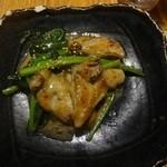 45850597 - 牡蠣とほうれん草のバターソテー