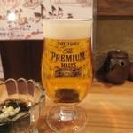 炭焼笑店 陽 - 生ビール