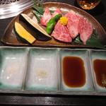 Matsunagabokujou - カルビランチ1500円の肉