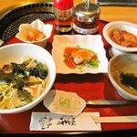 成田屋 - 冷麺定食(冷麺以外)