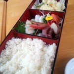 寿司・御食事処 敏 - 料理写真:刺身・天ぷら定食