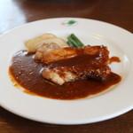 スウィートバジル - 若鶏のソテーガーリックソース