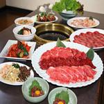 焼き肉 あみ火や 奈良屋敷 - 料理写真:上焼肉コース
