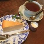 珈琲達磨堂 - チーズケーキセット