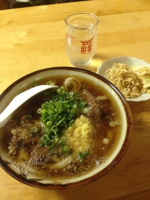 久野 - 肉うどん(小)(^^)v