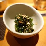 けいすい - あおさ海苔と味噌の和え物