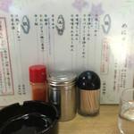 一生懸麺 とっかりⅡ - かなりシンプルなメニューd(^_^o) もちろん一番人気は筆頭メニューの塩。(o^^o)