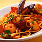 スパゲッティ ペスカトーラ トマトソースor塩味