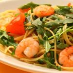 スパゲッティ 小海老とルッコラ 塩味