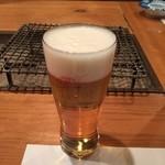 いろり 朱守 - 生ビール(アサヒスーパードライ)
