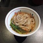 京都つゆしゃぶCHIRIRI - 美味しいお出汁で〆のお蕎麦