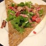 ルマロン - ベーコンとワサビ菜のガレット