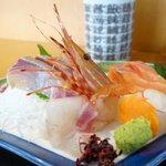 うろこ鮨 - 料理写真:刺身定食の刺身