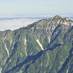 岳沢小屋 - 奥穂高岳山頂から笠ヶ岳