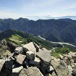 岳沢小屋 - 前穂高岳山頂から北尾根そして屏風