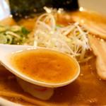麺の坊 晴天 - サラッとして魚介が効いたスープ