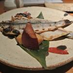 酒とそば まるき - 岩魚の一夜干し