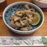 竹原 - まぐろの内臓・・・この日は胃袋(ワタ)の酢みそ和えでした。