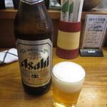 竹原 - 瓶ビール・・・大瓶で500円は良心的です。