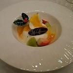 帝国ホテル 大阪 - ブランマンジェとホワイトチョコレートのクレーム マンゴーソース