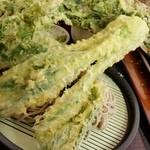 老稚園 - チンゲン菜をまるごと天ぷらにしたのは初めてみました(笑)