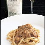 トスカネリア - フランス産鴨肉のモンタルチーノ風赤ワイン煮込み ピーチ