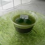 パティスリー ポタジエ - ルッコラゼリー&黒ごま豆乳ムース