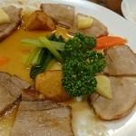 洋食 ふじい - ヤマトポークのソテー。リンゴソース