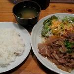 味工房 - 日替り定食は生姜焼き定食600円