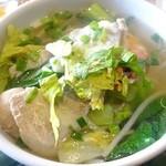 45892167 - ランチセット(1300円)の主菜「クイティオ ナーム(あっさりタイ風ライスヌードル)」