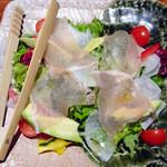 月の宴 - 生ハムとアボカドの彩りイタリアンサラダ
