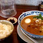 りょう花 - 味噌味玉らー麺+白ごはん大