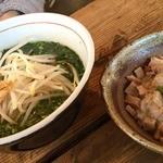 酒麺房 さの屋 - 限定の青唐辛子麺は、まさに激辛(~~;