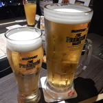 黒田 - 生ビール中と生ビールメガサイズ!