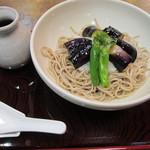 そば処 三津屋 - 揚げ茄子おろし蕎麦